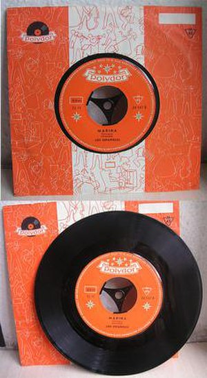 Polydor Records - In 1954 Polydor Records introduced their distinctive orange label.