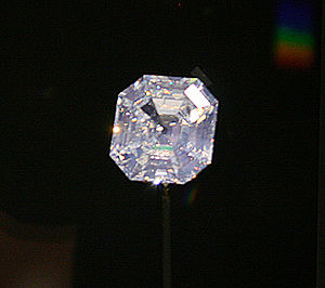 Portuguese Diamond - The Portuguese Diamond, on exhibit at the National Museum of Natural History, Washington D.C.