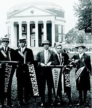 Jefferson Literary and Debating Society - Society Members on the Lawn