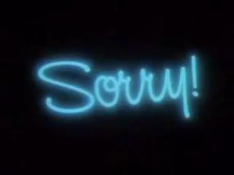 Sorry! (TV series) - Title card
