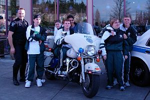 Law Enforcement Torch Run - Image: Special olympic athletes