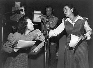 "Suspense (radio drama) - Lurene Tuttle (left) and Rosalind Russell in ""The Sisters"" on Suspense in 1948"