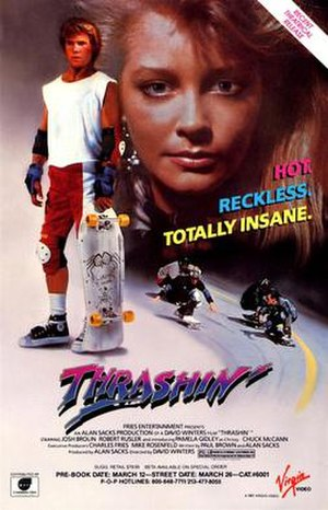 Thrashin' (film) - Theatrical release poster