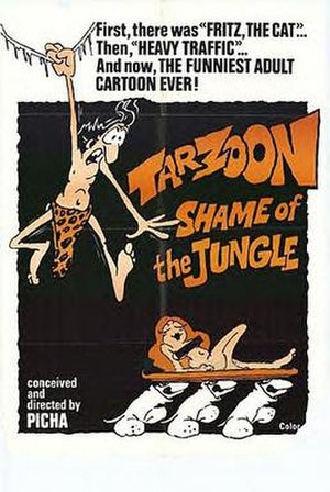 Tarzoon: Shame of the Jungle - American theatrical release poster