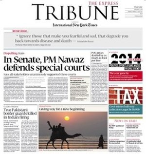The Express Tribune - Front Page on January 1, 2015
