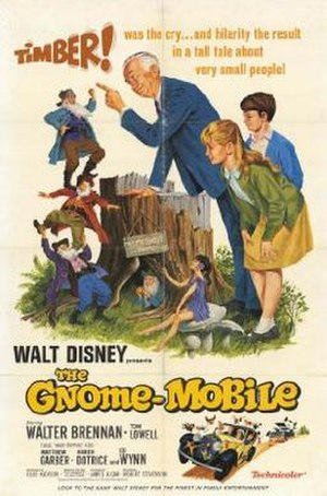 The Gnome-Mobile - Original window card, 1967