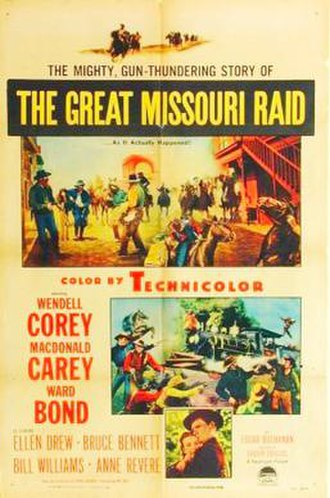 The Great Missouri Raid - Theatrical release poster