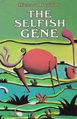 The Selfish Gene - Original cover, with detail from the painting The Expectant Valley by zoologist Desmond Morris