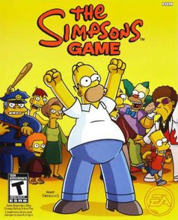 <i>The Simpsons Game</i> 2007 video game