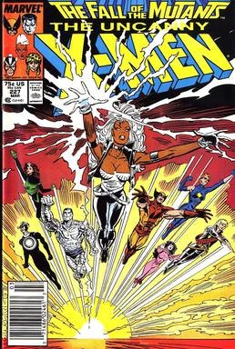 The cover of 1987's Uncanny X-Men 227