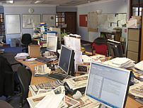 The Tiverton and Mid Devon Gazette newsroom ba...