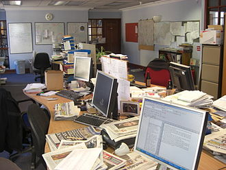 Tiverton, Devon - The Tiverton and Mid Devon Gazettes former newsroom on Bampton Street.
