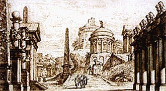"Russian opera - Valeriani: Sets for the ""first Russian opera"" Tsefal i Prokris by Araja, 1755"
