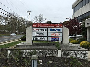 WMGM-TV - The former WMGM-TV NBC sign outside the studio in Linwood, New Jersey