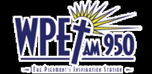 WPET - Image: WPET AM950 logo