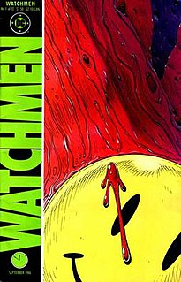 <i>Watchmen</i> superhero comic book series by Alan Moore and Dave Gibbons