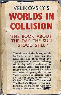 <i>Worlds in Collision</i> book by Immanuel Velikovsky
