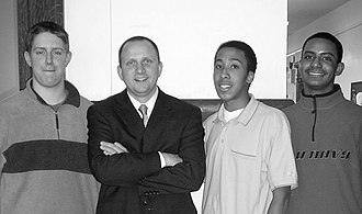 City Honors School - William Kresse, the current principal of City Honors School, with students (left to right) John Dracup '07, Joshua Wells '07, and Michael-Dane Alexander '08
