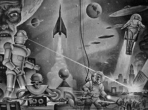 Winston Science Fiction - Winston Science Fiction Endpaper by Alex Schomburg.