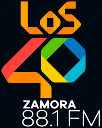 XHZN-FM (Michoacán) - Image: XHZN Los 40Zamora 88.1 logo