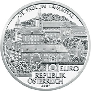 Saint Paul's Abbey, Lavanttal - St. Paul's Abbey in the Lavanttal commemorative coin