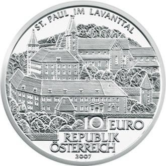 Saint Paul's Abbey, Lavanttal - St. Paul's Abbey in the Lavanttal commemorative coin