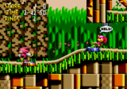 Elastic ring power in Knuckles' Chaotix.
