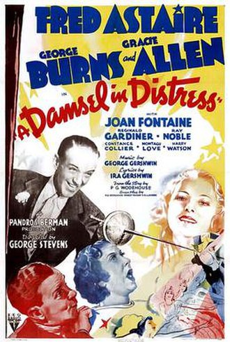 A Damsel in Distress (1937 film) - A Damsel in Distress film poster