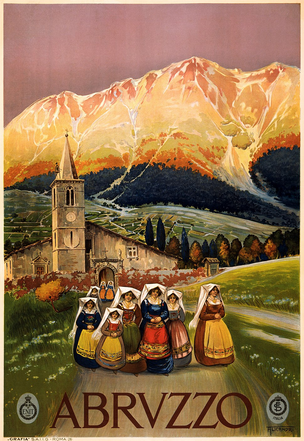 Abruzzo, travel poster for ENIT (LOC cph.3g12505)