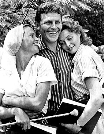 Andy Griffith was an active member of Chapel Hill's arts community while attending UNC, later starring in productions such as A Face in the Crowd and The Andy Griffith Show. Andy Griffith-Neal-Remick.jpg