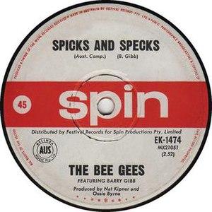 Spicks and Specks (song) - Image: Beegeesspicksandspec ks