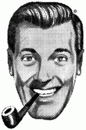 """Free Party (UK) - J. R. """"Bob"""" Dobbs, whose image was the party logo"""