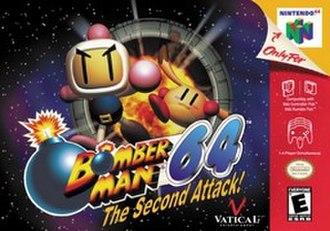 Bomberman 64: The Second Attack - North American Nintendo 64 cover art