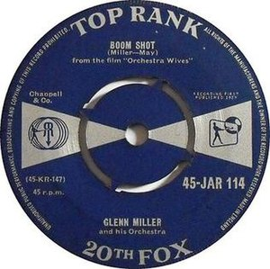 Boom Shot -  1959 Top Rank/20th Fox 45 single, 45-JAR 114A.