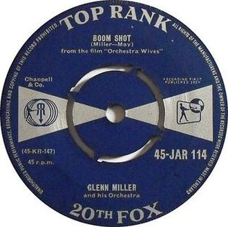 Boom Shot -  1959 Top Rank/20th Fox 45 single, 45-JAR 114A.