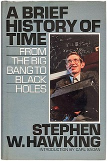<i>A Brief History of Time</i> 1988 book by Stephen Hawking