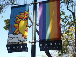 Davie Village lamppost banners