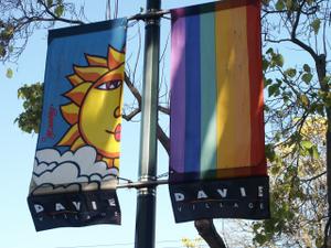 Joe Average - Banners designed by Joe Average decorate the Davie Village gaybourhood.