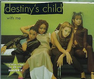 With Me (Destiny's Child song) - Image: Destiny's Child – With Me (UK release CD1 cover)