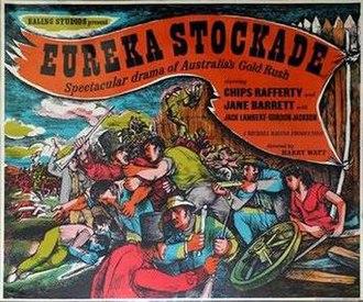Eureka Stockade (1949 film) - British quad poster by John Minton