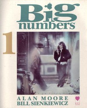 Big Numbers (comics) - The cover of the first issue of Big Numbers. Art by Bill Sienkiewicz.