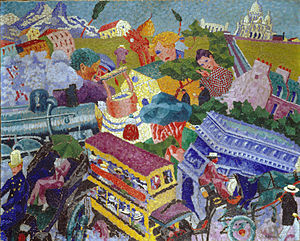 Gino Severini - Gino Severini, 1911, Souvenirs de Voyage (Memories of a Journey, Ricordi di viaggio), oil on canvas, 47 x 75 cm, private collection