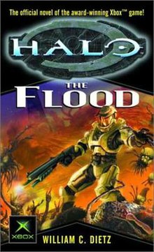 Cover shows a human in futuristic gear shooting a weapon
