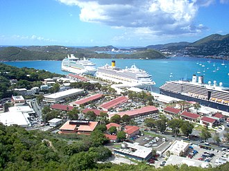 Havensight, U.S. Virgin Islands - Bird's eye view of Havensight from the Paradise Point Tramway.