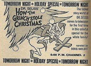 Dr. Seuss' How the Grinch Stole Christmas! (TV special) - Print advertisement