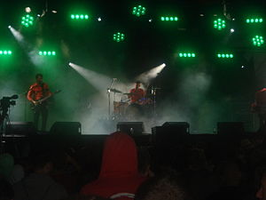 In Case of Fire - In Case of Fire perform at the 2009 Leeds Festival. L-R: Stephen Robinson, Colin Robinson, Mark Williamson