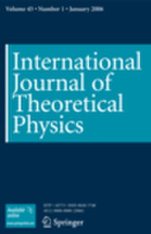 International Journal of Theoretical Physics - Image: IJTP cover