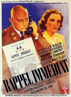 <i>Immediate Call</i> 1939 film by Léon Mathot