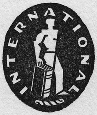 International Publishers - Original logo of International Publishers, used from the time of the firm's establishment in 1924 throughout the decade of the 1930s.