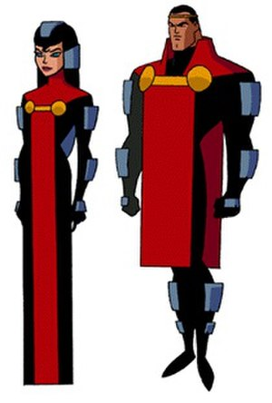 Jor-El - Jor-El and his wife Lara in the first episode of Superman: The Animated Series.